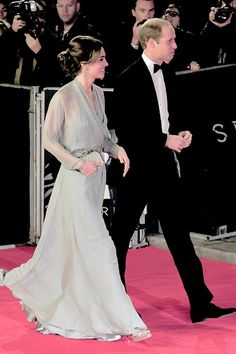 The Duke and Duchess of Cambridge arrive for the world premiere of Spectre at the Royal Albert Hall in London, October 26th 2015.