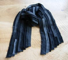 Cashmere scarf unisex recycled material upcycled by elinadavenport
