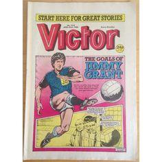 Victor #1418 Comic UK April 1988 Football Sport Action Adventure