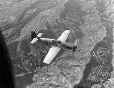P-51 escorting C-47's over China, July 1945