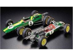 The Tamiya 1/20 Lotus 25 Coventry Climax is a plastic model kit in the Tamiya 1/20 F1 Car Plastic Model Kits range. This plastic car kit requires paint and glue to complete. With its innovative features, the Lotus 25 had a profound influence in the design of the Formula 1 cars, and the glorious history of the Lotus arose from this car.