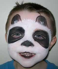 Panda Face Paint for a #Halloween costume