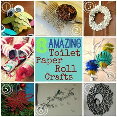 Stop! Don't throw those empty toilet paper rolls away!! Check out these 8 Amazing Toilet Paper Roll Crafts!! #crafts #diy
