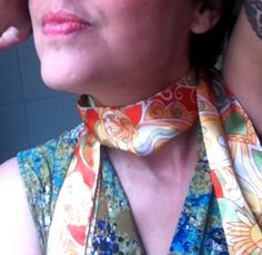 Retro Groovy Psychedelic Print Scarf Tie Sash in by citizenrosebud, $3.75