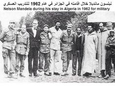 Nelson Mandela during his stay in Algeria in 1962 for military training