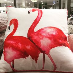I love these Flamingo cushions from John Lewis - they would add a splash of colour and lots of drama to any interior scheme!
