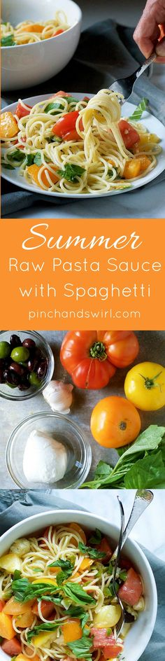 Combine summer superstar ingredients: heirloom tomatoes, garlic, fresh basil, creamy fresh mozzarella  briny olives tossed with hot,…