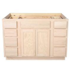New Unfinished 4 Drawer Base Cabinet
