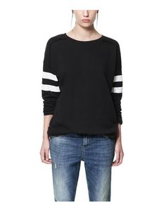 'BLACK & WHITE' SWEATSHIRT- ZARA