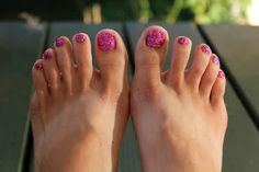 Glitter Toes make me happy (: Even in the winter, it's like my own special secret that my toes look super cute (: