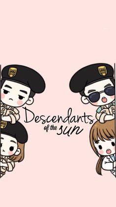 Descendants of the sun; Song joong ki (big boss/ captain yoo shi jin); Song hye kyo (Dr. Kang mo yeon) ; Kim ji won (Yoon myong joo) ; Jin Goo (Seo Dae yong) wallpaper