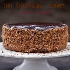 Chocolate cake - coffee with plum jam Plum Jam, Chocolate Cake, Cheesecake, Pudding, Cooking, Food, Chile, Eat, Coffee