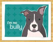 Pit Bull Dog Magnet No Bully by PopDoggie on Etsy