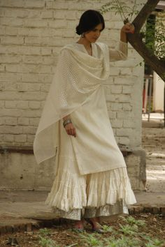 Good Earth Sustain White Kurti