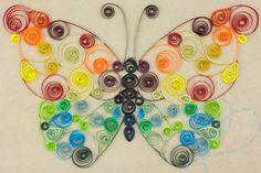 vlinder filigraan quilling voorbeeld