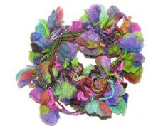 Beautifully handmade wool yarn  with felt flowers by MondinCompany, €12.00
