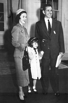 Shirley Temple with her husband Charles Black and daughter, Linda Susan, after a visit to the White House, 1953.