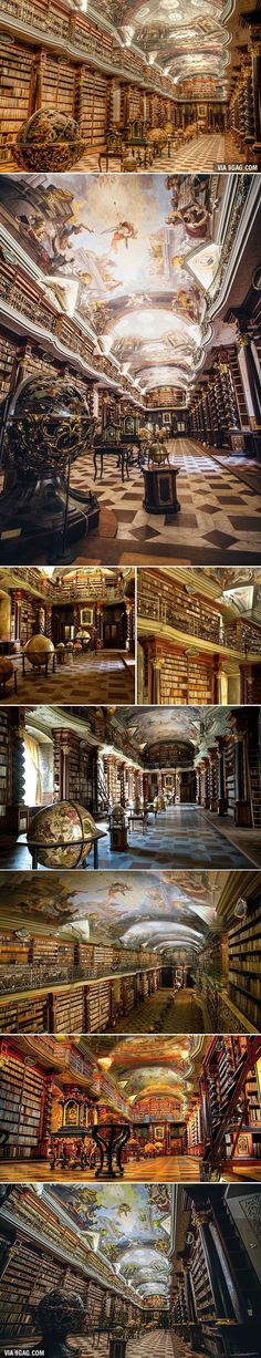 Just Beautiful ..Prague Has The World's Most Beautiful Library