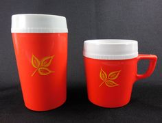 Better-Maid Plastic Tumbler and Cup Mug Red by RedThreadRetro