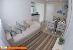 Apartamento decorado 2 dormitórios do Parque Sicília no bairro Alto do Campolim - Sorocaba - SP - MRV Engenharia - Sala de Estar