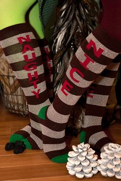 Equally naughty and nice, these socks leave it up to you to decide which list of Santa's you'll be on. Each sock has the same word down both sides, so if you want to be all naughty, or nice, you'll have to buy two pairs.