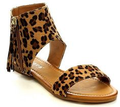 Leopard sandals for summer