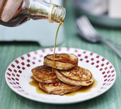 No-weigh cinnamon & yogurt pancakes. Pancakes are the ultimate breakfast and these are particularly great to rustle up on a camping holiday, with no scales required!