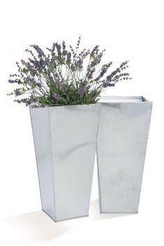 *NEXT    Set of 2 metal planters   Conjunto de 2 maceteros de metal