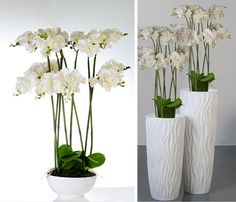 Twirl White Flower Vase