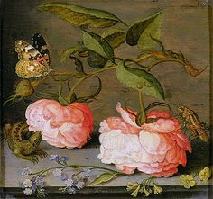 A Still Life with Roses by Balthasar van der Ast
