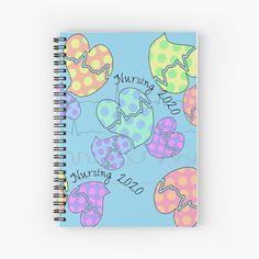 'Pastel Cardiac Rhythm Hearts' Spiral Notebook by Gail Gabel, LLC Cardiac Rhythms, Notebook Design, Gabel, Smiling Dogs, Canvas Prints, Art Prints, Nursing Students, Sell Your Art, Art Boards
