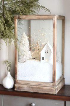 white christmas diy-christmas-village-t - Diy Christmas Village, Decoration Christmas, Christmas Villages, Noel Christmas, Xmas Decorations, Winter Christmas, Vintage Christmas, Christmas Crafts, Christmas Ornaments