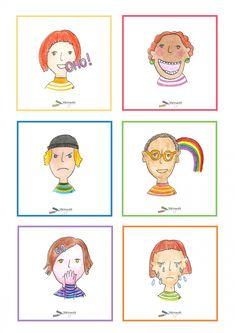 Tunnetaidot - Värinautit Finland, Teaching, Activities, Comics, School, Dutch, Dutch Language, Education, Cartoons