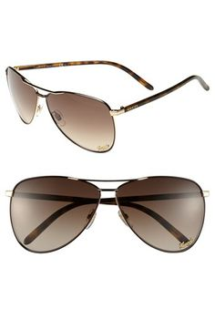 Gucci 62mm Metal Aviator Sunglasses available at #Nordstrom