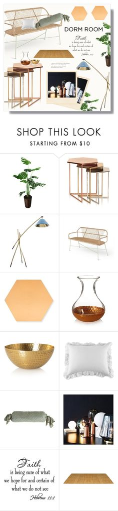 """""""OLIVERBONAS"""" by ainzme ❤ liked on Polyvore featuring interior, interiors, interior design, home, home decor, interior decorating, Pom Pom at Home, Amity Home and WALL"""