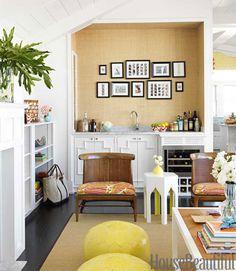 Beach house living room. Design: Mona Ross Berman. Photo: Johnny Valiant. housebeautiful.com @living room #beach house