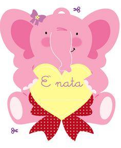 Crescere due gemelli: Fiocco nascita a forma di elefante Realizzati per da me per Debora e il suo blog!