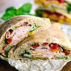 Whole Wheat Turkey Cheddar Pocket Sandwiches