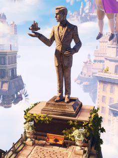 Bioshock Infinite Robert Lutece statue