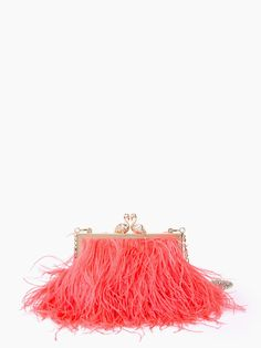 kate spade new york / madison strut your stuff flamingo clasp clutch
