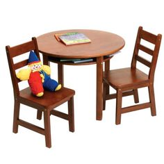 $110.00 Lipper Childrens Round Table and Chair Set - Activity Tables at Hayneedle