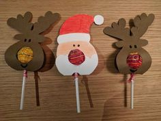 Great Pics Sewing gifts for teachers Suggestions Papá Noel Chups Christmas Candy Crafts, Creative Christmas Gifts, Homemade Christmas Gifts, Diy Christmas Gifts, Kids Christmas, Holiday Crafts, Christmas Printables, Christmas Decorations, Christmas Ornaments