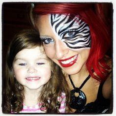 Zebra make up