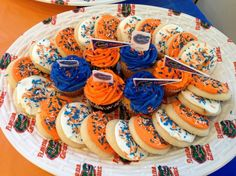 Gator Homecoming cookies