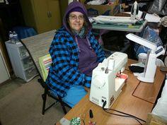 Sewing in garage December 2012