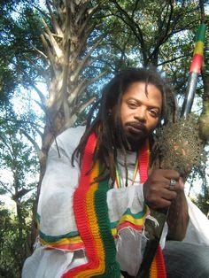 Love this photo. He is representing that Rastafari movement.