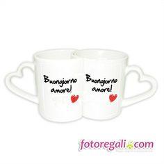 IDEA REGALO N.12 - Con la coppia di tazze love, ogni mattina sarà un piacere fare colazione con la persona che ami!   Scopri come personalizzarle qui:  http://www.fotoregali.com/coppia-tazze-love-con-foto.aspx