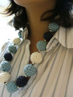 crocheted necklace instructions