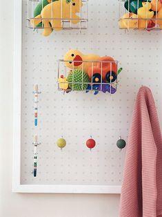 Small Bathroom Ideas For Organizing | Peg Board Wall Shelf