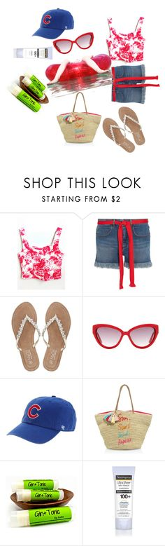 """Happy days!!"" by reachout2u ❤ liked on Polyvore featuring Sonia Rykiel, M&Co, Moschino, '47 Brand, Rebecca Minkoff and Neutrogena"